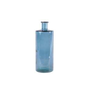 Vase d'Espagne verre 100% recyclé teinté bleu clair h 40 cm Opium